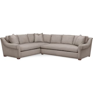 Asher 2 Pc. Sectional with Right Arm Facing Sofa- Cumulus in Abington TW Fog