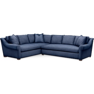 Asher 2 Pc. Sectional with Right Arm Facing Sofa- Cumulus in Dudley Indigo