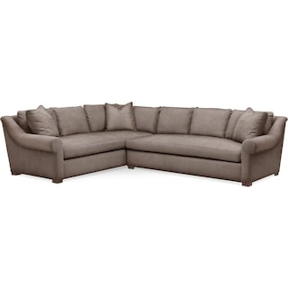 Asher 2 Pc. Sectional with Right Arm Facing Sofa- Cumulus in Hugo Mocha