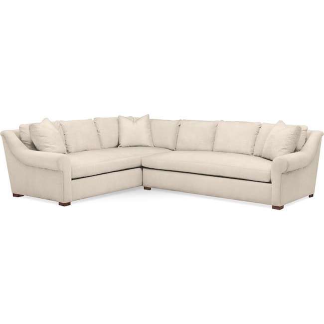 Living Room Furniture - Asher 2 Pc. Sectional with Right Arm Facing Sofa- Cumulus in Curious Pearl