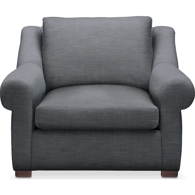 Living Room Furniture - Asher Chair- Cumulus in Depalma Charcoal