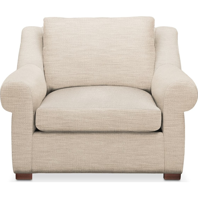 Living Room Furniture - Asher Chair- Cumulus in Victory Ivory