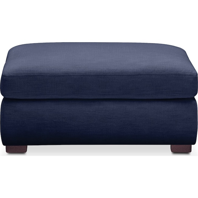 Living Room Furniture - Asher Ottoman- Cumulus in Oakley III Ink