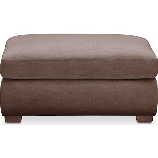 Living Room Furniture - Asher Ottoman- Cumulus in Oakley III Java