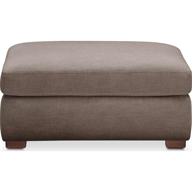 Living Room Furniture - Asher Ottoman- Cumulus in Hugo Mocha