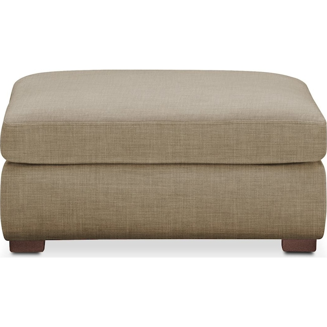 Living Room Furniture - Asher Ottoman- Cumulus in Milford II Toast