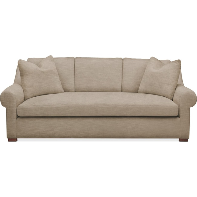 Living Room Furniture - Asher Sofa- Cumulus in Dudley Burlap