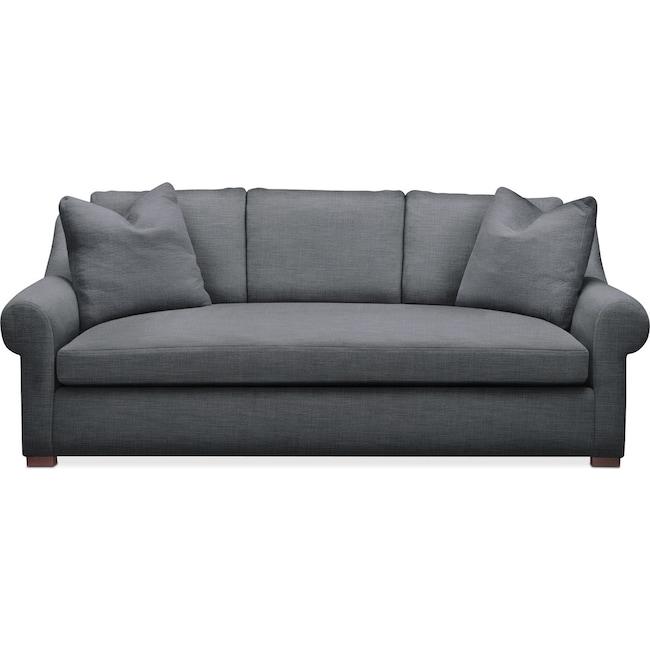 Living Room Furniture - Asher Sofa- Cumulus in Depalma Charcoal