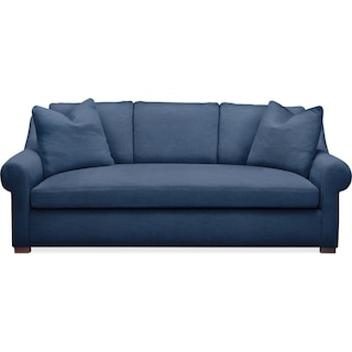 Asher Sofa- Cumulus in Hugo Indigo
