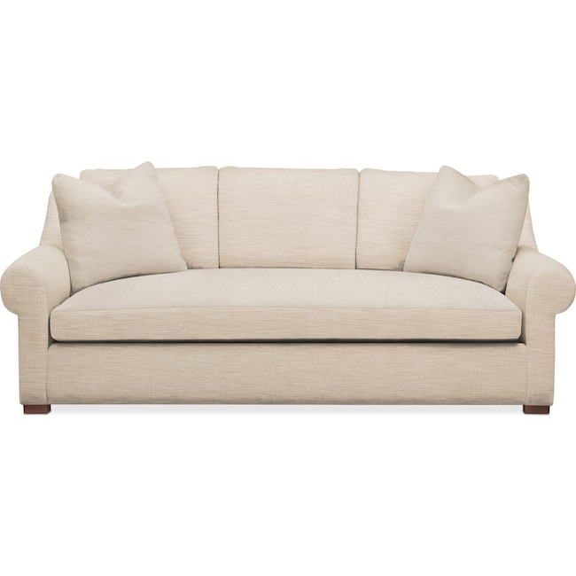 Living Room Furniture - Asher Sofa- Cumulus in Victory Ivory