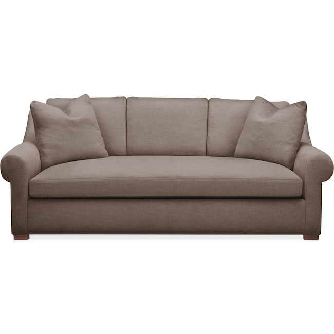 Living Room Furniture - Asher Sofa- Cumulus in Hugo Mocha