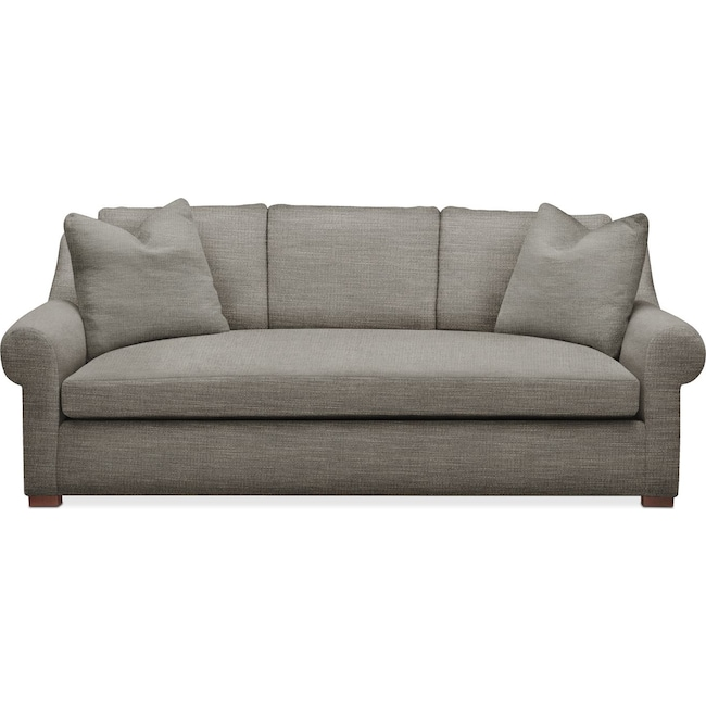 Living Room Furniture - Asher Sofa- Cumulus in Victory Smoke
