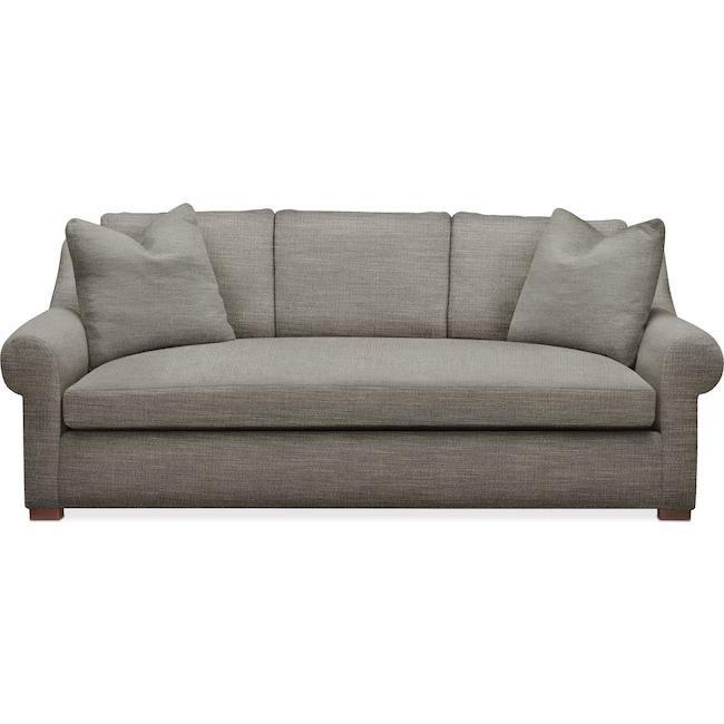 Living Room Furniture - Asher Sofa- Cumulus in Victory Smoke