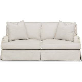 Campbell Apartment Sofa- Cumulus in Anders Ivory