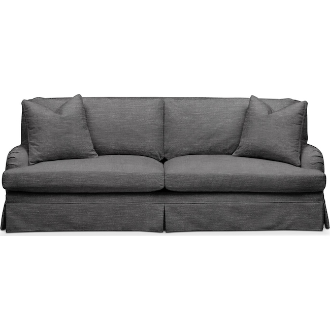 Living Room Furniture - Campbell Sofa- Cumulus in Depalma Charcoal