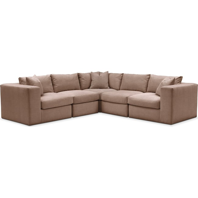 Living Room Furniture - Collin 5 Pc. Sectional - Cumulus in Abington TW Antler