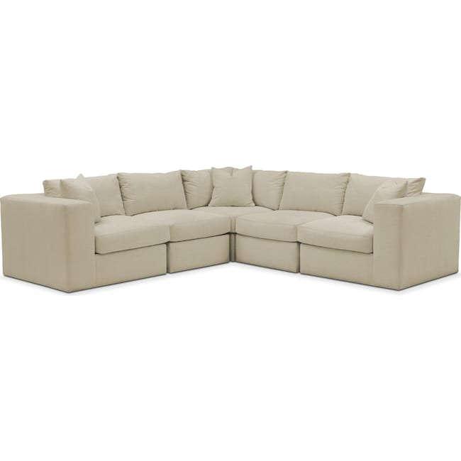 Living Room Furniture - Collin 5 Pc. Sectional - Cumulus in Abington TW Barley