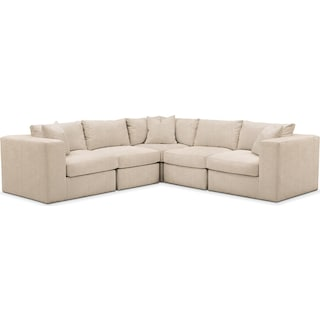Collin 5 Pc. Sectional - Cumulus in Dudley Buff