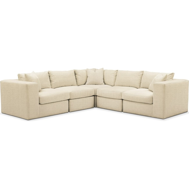 Living Room Furniture - Collin 5-Piece Sectional - Cumulus in Anders Cloud