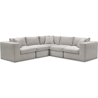 Collin 5 Pc. Sectional - Cumulus in Dudley Gray