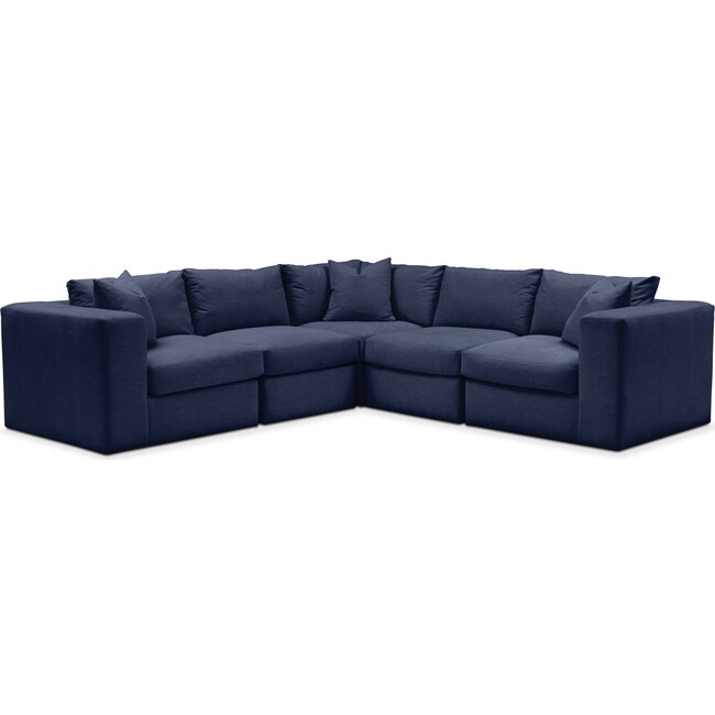 Living Room Furniture - Collin 5 Pc. Sectional - Cumulus in Oakley III Ink