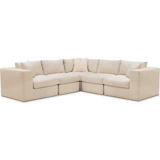 Collin 5 Pc. Sectional - Cumulus in Anders Ivory