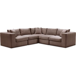 Collin 5 Pc. Sectional - Cumulus in Oakley III Java