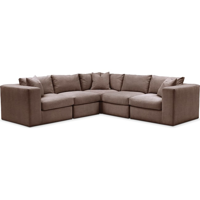 Living Room Furniture - Collin 5 Pc. Sectional - Cumulus in Oakley III Java