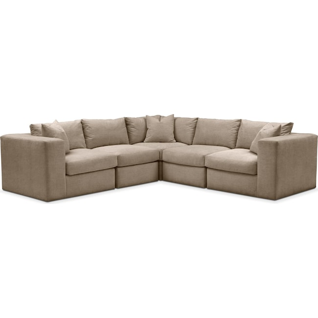 Living Room Furniture - Collin 5 Pc. Sectional - Cumulus in Statley L Mondo