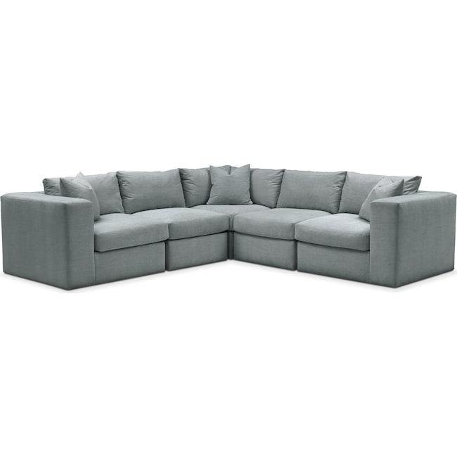 Living Room Furniture - Collin 5 Pc. Sectional - Cumulus in Abington TW Seven Seas
