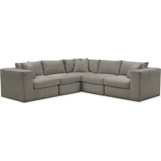 Collin 5 Pc. Sectional - Cumulus in Victory Smoke