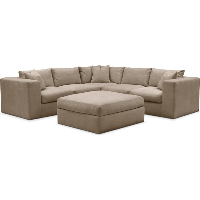 Living Room Furniture - Collin 6 Pc. Sectional- Cumulus in Statley L Mondo