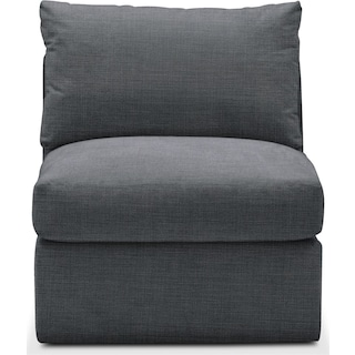 Collin Armless Chair- Cumulus in Depalma Charcoal