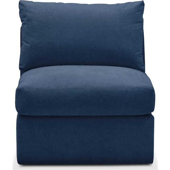 Living Room Furniture - Collin Armless Chair- Cumulus in Hugo Indigo
