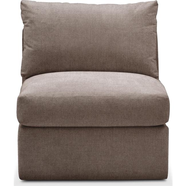 Living Room Furniture - Collin Armless Chair- Cumulus in Hugo Mocha