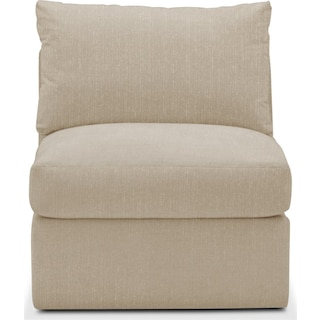 Collin Armless Chair- Cumulus in Depalma Taupe