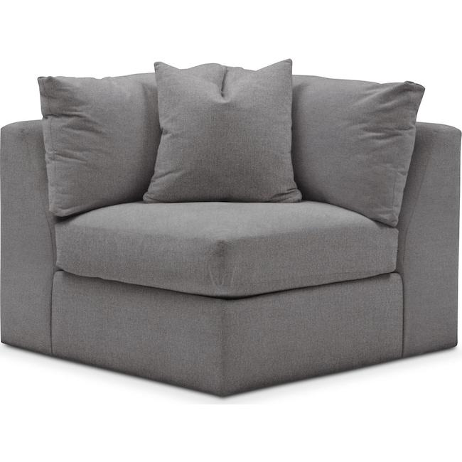 Living Room Furniture - Collin Corner Chair- Cumulus in Hugo Graphite