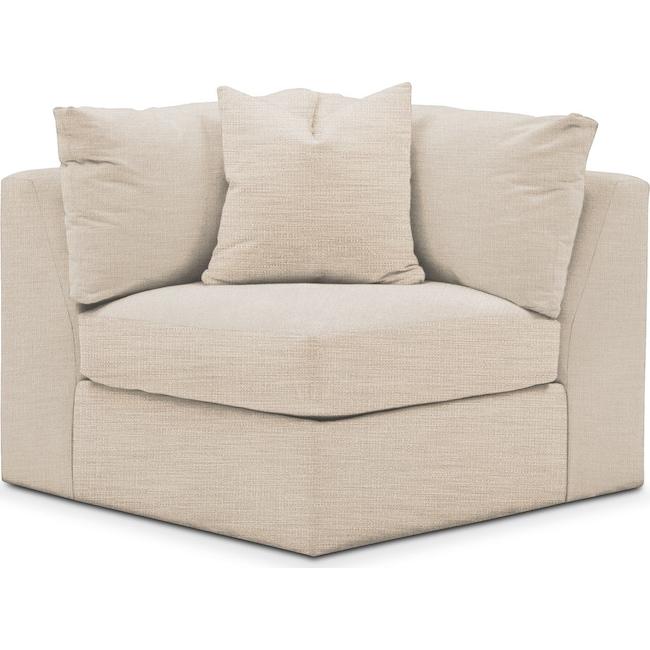 Living Room Furniture - Collin Corner Chair- Cumulus in Anders Ivory