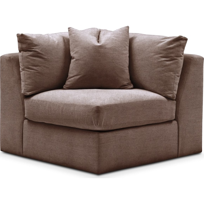 Living Room Furniture - Collin Corner Chair- Cumulus in Oakley III Java