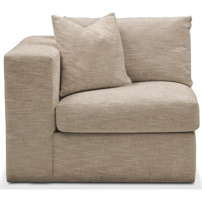 Living Room Furniture - Collin Left Arm Facing Chair- Cumulus in Dudley Burlap