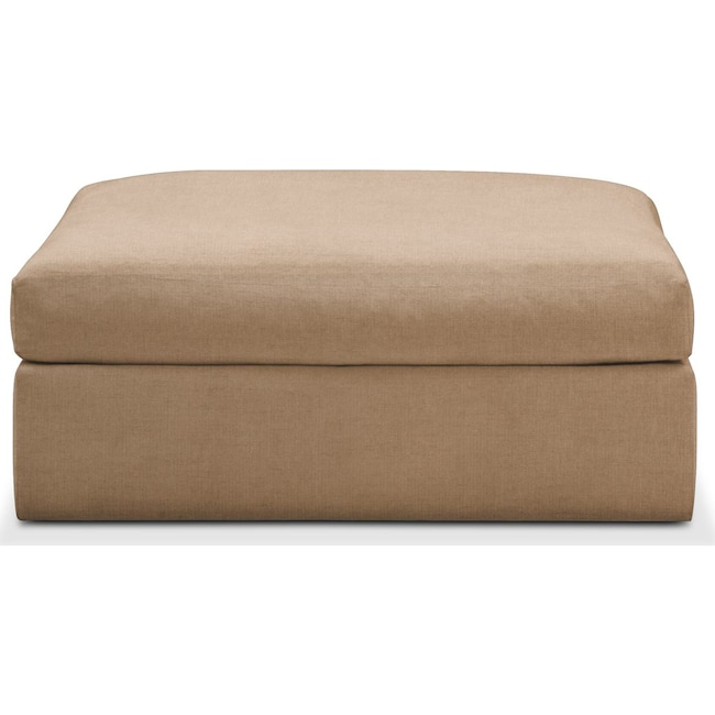 Living Room Furniture - Collin Ottoman- Cumulus in Hugo Camel