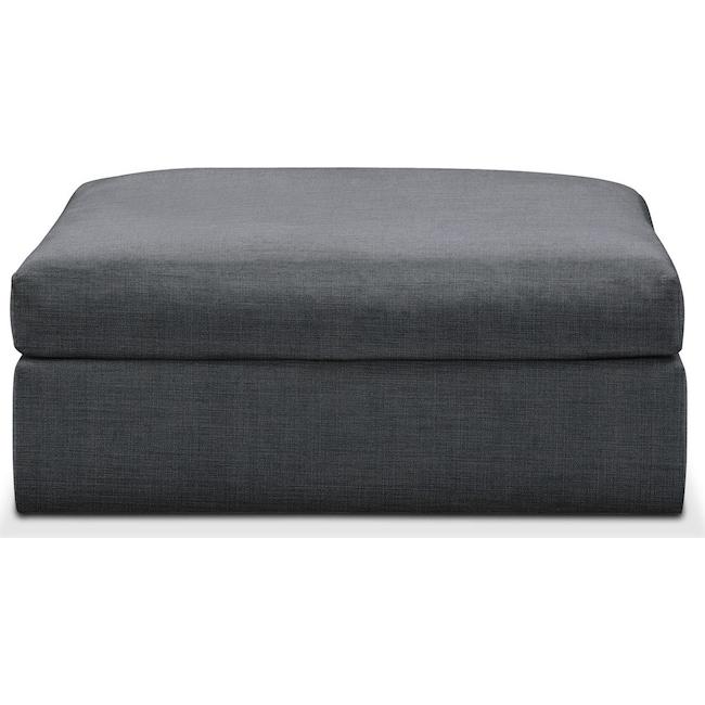 Living Room Furniture - Collin Ottoman- Cumulus in Depalma Charcoal