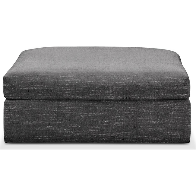 Living Room Furniture - Collin Ottoman- Cumulus in Milford II Charcoal