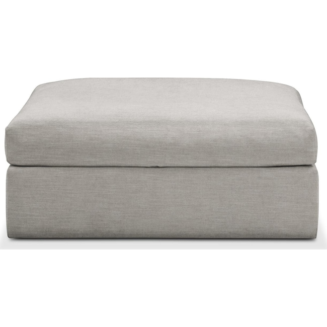 Living Room Furniture - Collin Ottoman- Cumulus in Dudley Gray