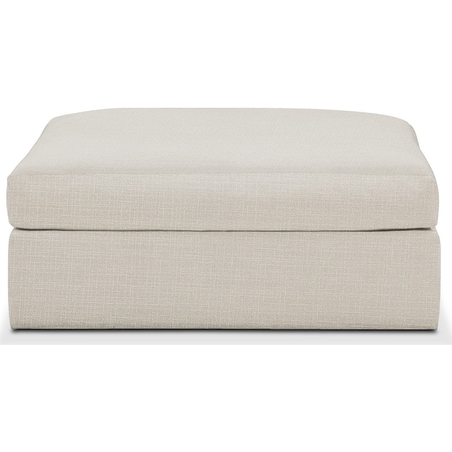 Living Room Furniture - Collin Ottoman- Cumulus in Victory Ivory