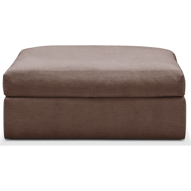 Living Room Furniture - Collin Ottoman- Cumulus in Oakley III Java