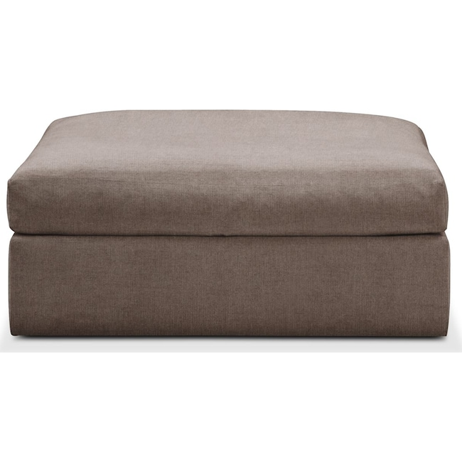 Living Room Furniture - Collin Ottoman- Cumulus in Hugo Mocha