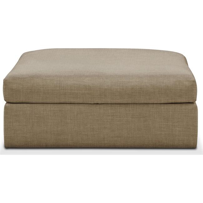 Living Room Furniture - Collin Ottoman- Cumulus in Milford II Toast