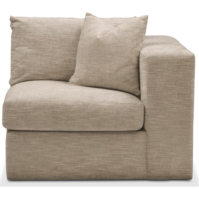 Living Room Furniture - Collin Right Arm Facing Chair- Cumulus in Dudley Burlap