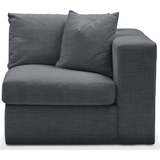 Collin Right Arm Facing Chair- Cumulus in Depalma Charcoal
